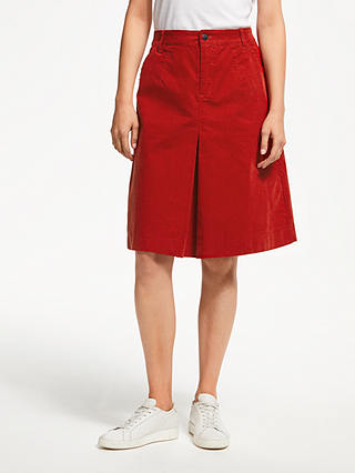 Buy Thought Rubina Cord Skirt, Fox Red, 12 Online at johnlewis.com
