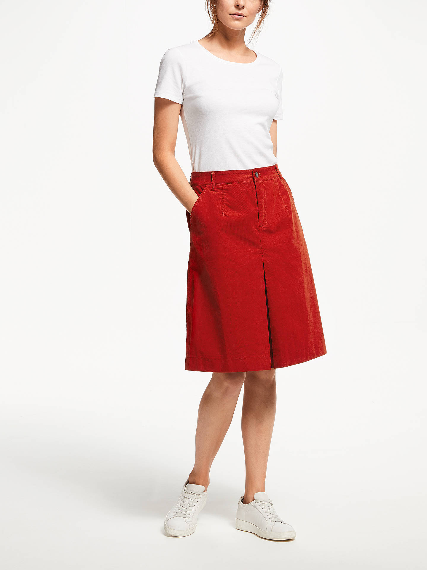 BuyThought Rubina Cord Skirt, Fox Red, 12 Online at johnlewis.com