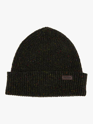 Buy Barbour Lowerfell Donegal Wool Beanie, One Size, Dark Green Online at johnlewis.com