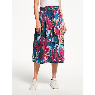 Thought Flower Palette Skirt, Garnet Pink