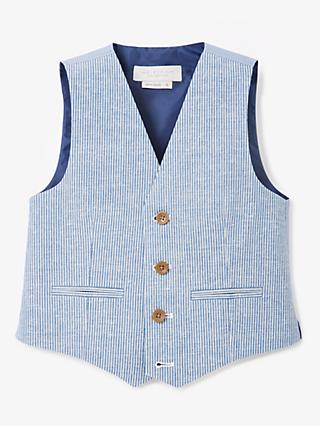 afc2d0dd46 John Lewis & Partners Heirloom Collection Boys' Ticking Stripe Waistcoat,  ...