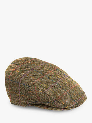 Buy Barbour Moons Wool Tweed Cap, Green, XL Online at johnlewis.com