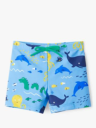 John Lewis & Partners Baby Under the Sea Swimming Shorts, Blue