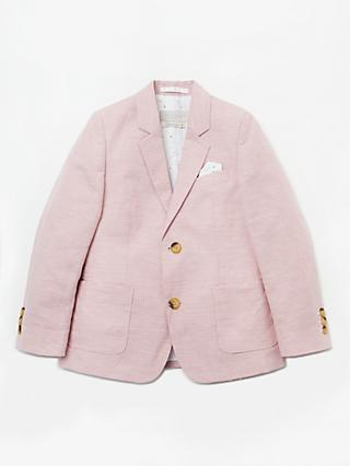 John Lewis & Partners Heirloom Collection Boys' Puppytooth Suit Jacket, Pink