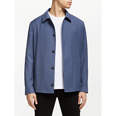 Kin Shirt Collar Bomber Jacket, Airforce Blue