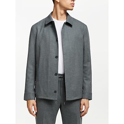 Kin Shirt Collar Bomber Jacket, Sage