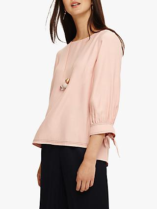Phase Eight Raine Cuff Blouse, Sorbet