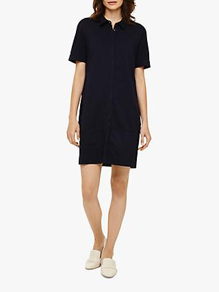 Phase Eight Evelyn Embroidered Shirt Dress, Navy
