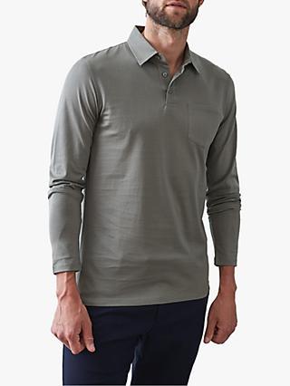 c1844ab49 ... new zealand reiss robbie mercerised cotton long sleeve polo shirt grey  3fbfc 75105