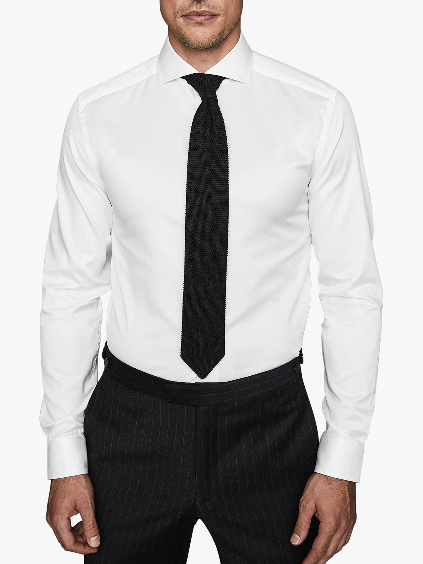 Reiss Storm Cutaway Collar Slim Fit Shirt At John Lewis Partners