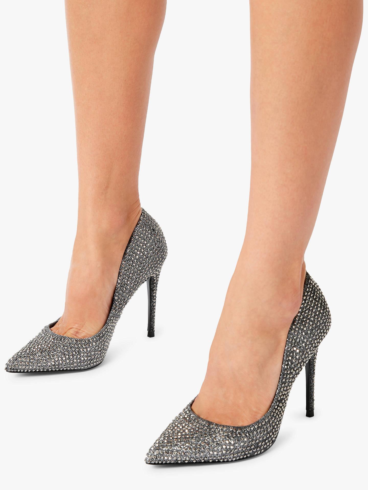 7ac3e070598 Steve Madden Daisie Stiletto Heel Court Shoes, Pewter Met at John ...