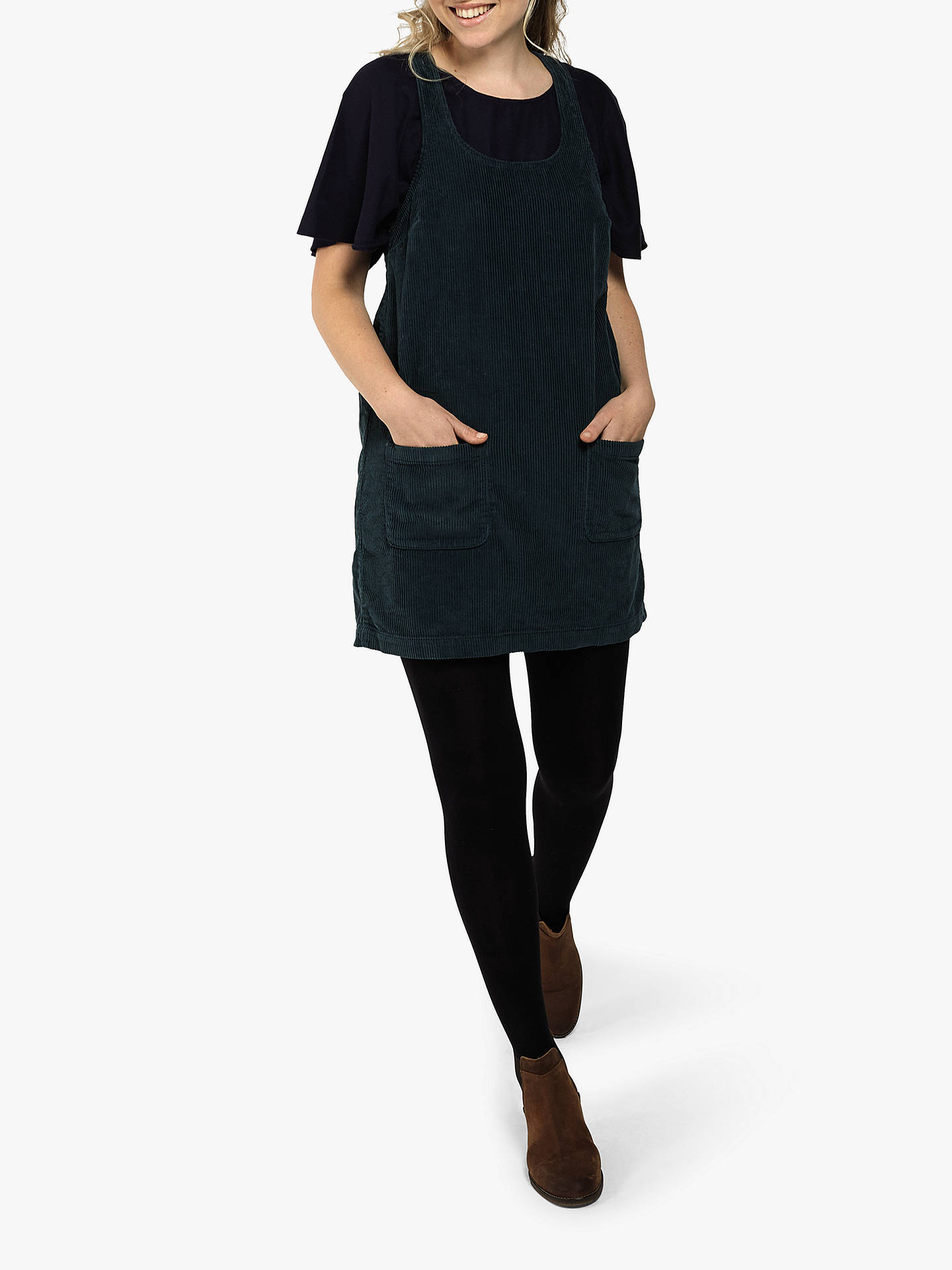 new cheap offer discounts half off Fat Face Cord Pinafore Dress, Bottle Green at John Lewis ...