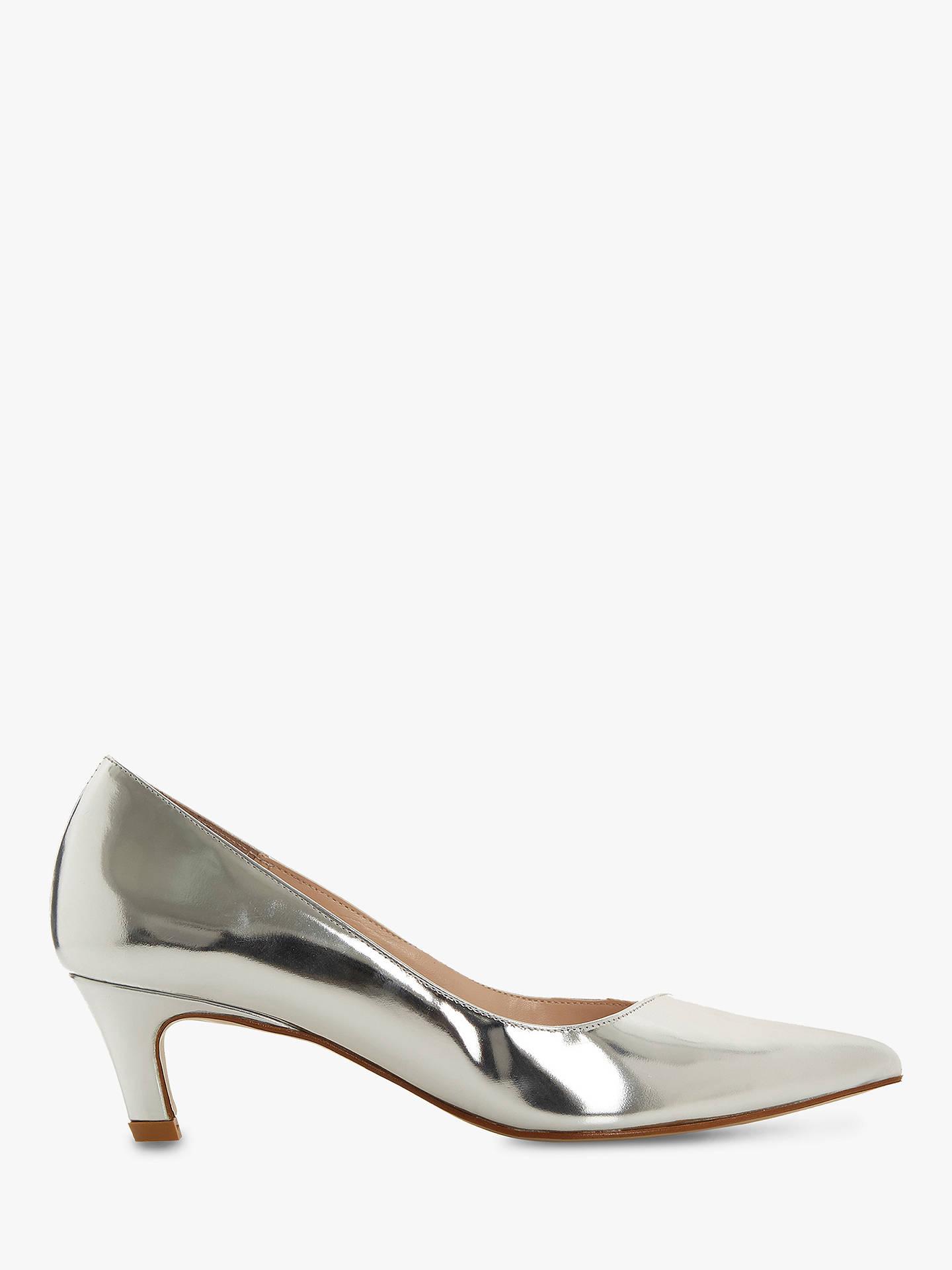 4027506092 Buy Dune Aello T Kitten Heel Court Shoes, Pewter Metallic, 3 Online at  johnlewis ...
