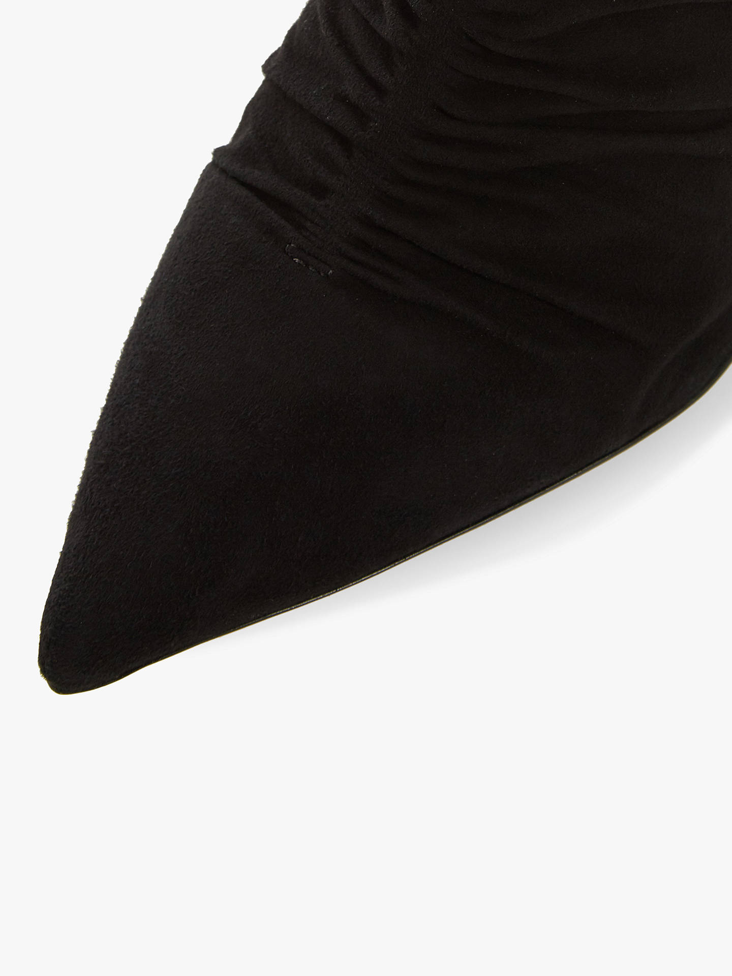 BuyDune Oasis Stiletto Heel Ankle Boots, Black Suede, 8 Online at johnlewis.com
