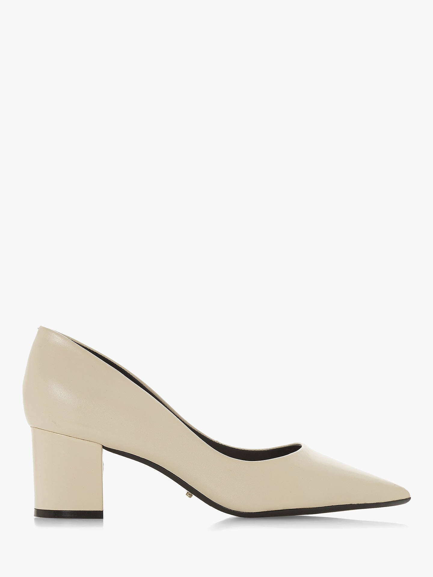 b3f53b536fb Dune Arve Block Heel Pointed Court Shoes at John Lewis   Partners