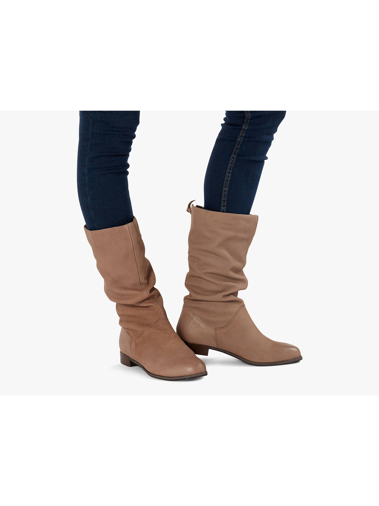 7164a184bd1ae ... Buy Dune Wide Fit Rosalindd Boots, Taupe Leather, 3 Online at  johnlewis.com ...