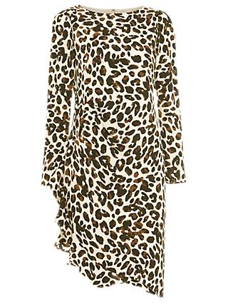Damsel in a Dress Carrera Leopard Print Dress, Camel
