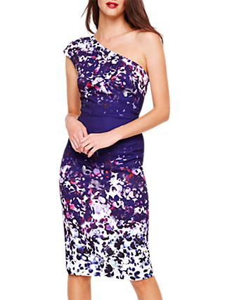 Damsel in a Dress Catalina Floral Asymmetric Dress, Multi