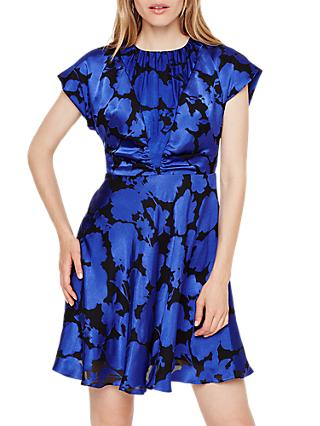 Damsel in a Dress Elsa Devore Dress, Blue/Black