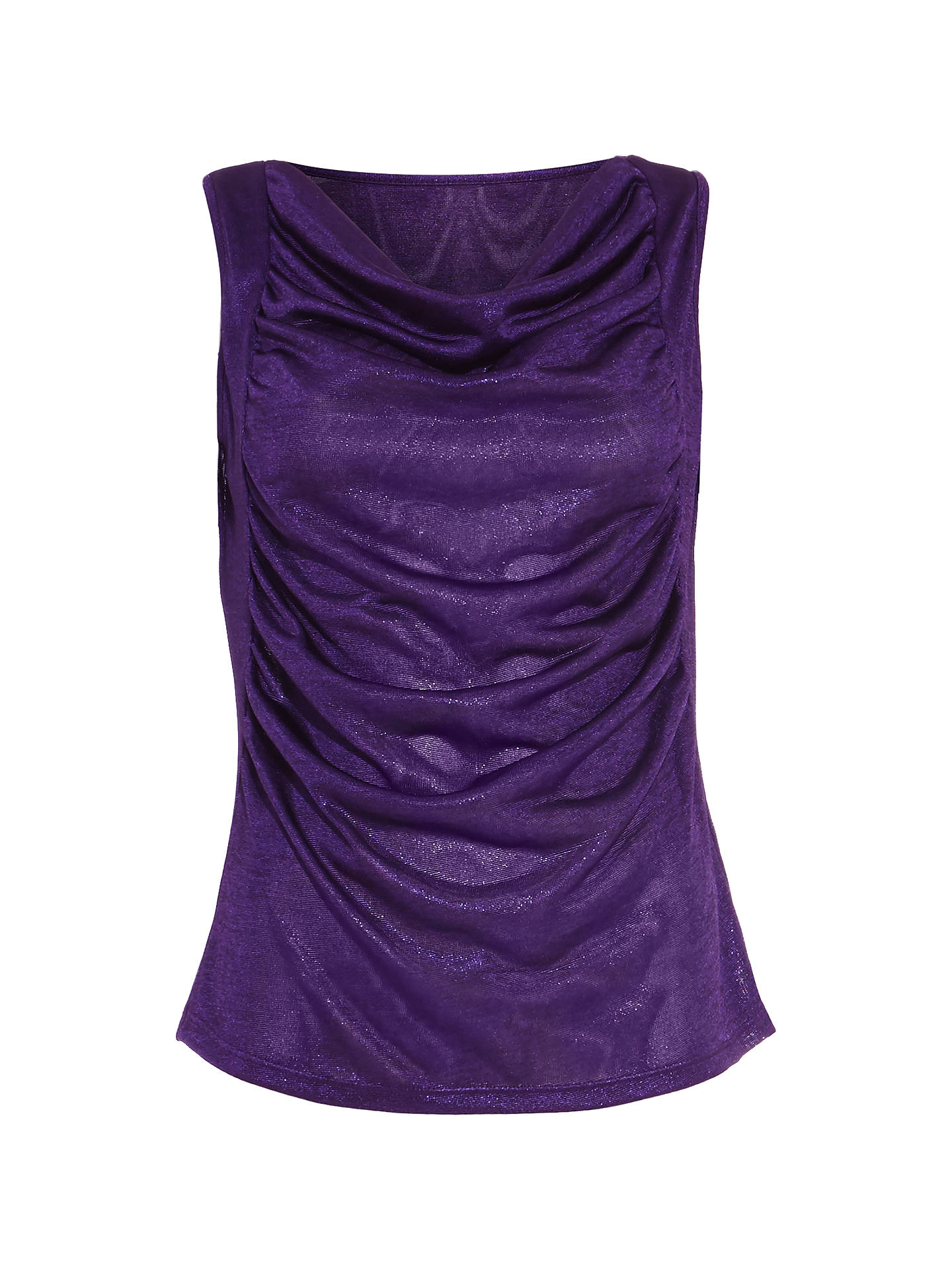 BuyDamsel in a Dress Gia Foil Jersey Top, Purple, 16 Online at johnlewis.com