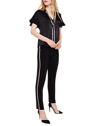 Damsel in a Dress Marianna Stripe Slim Fit Trousers, Black