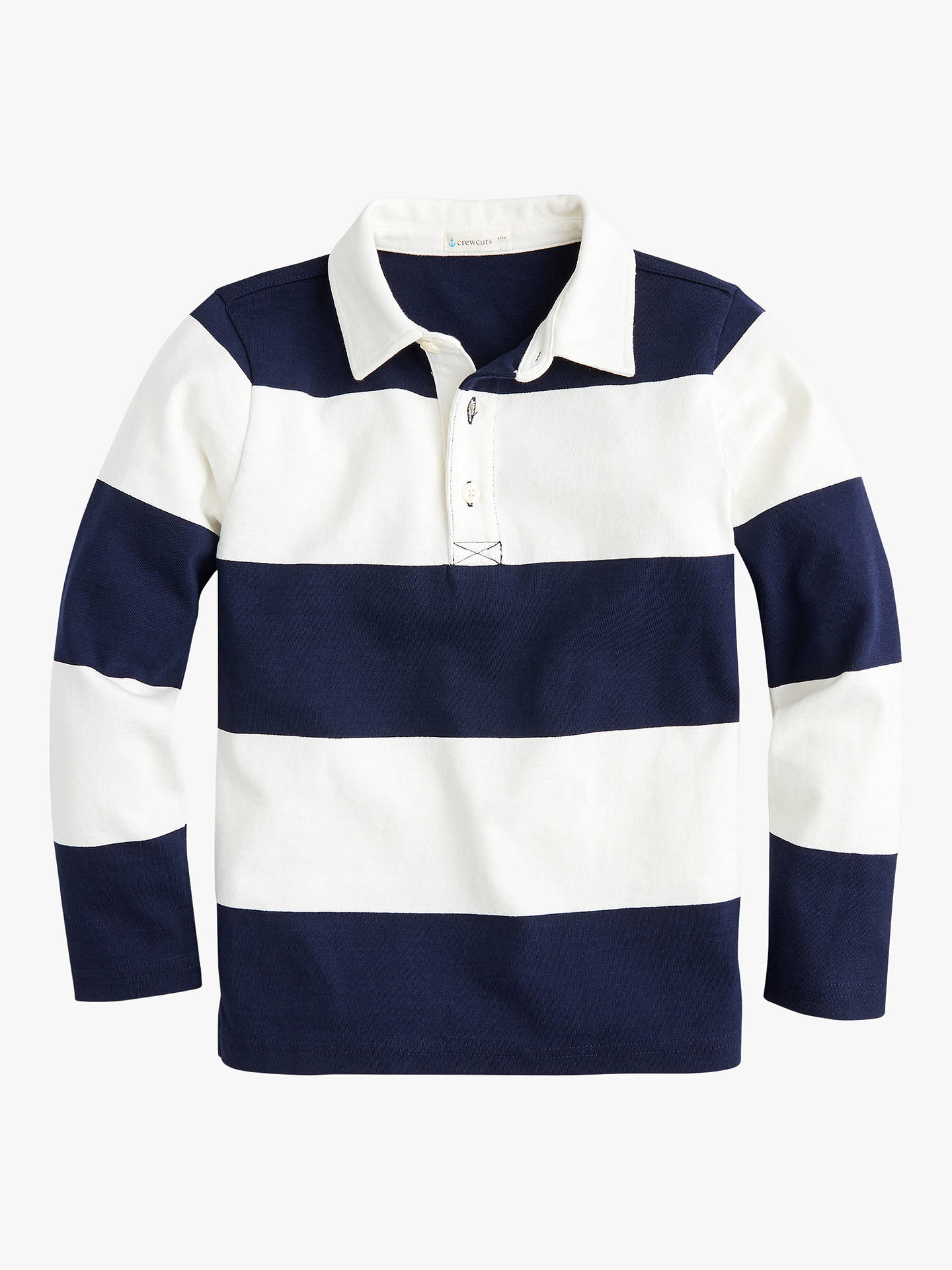 Boys Rugby Stripe T Shirt White Navy
