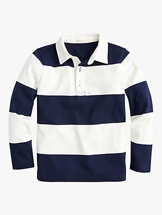crewcuts by J.Crew Boys' Rugby Stripe T-Shirt, White/Navy