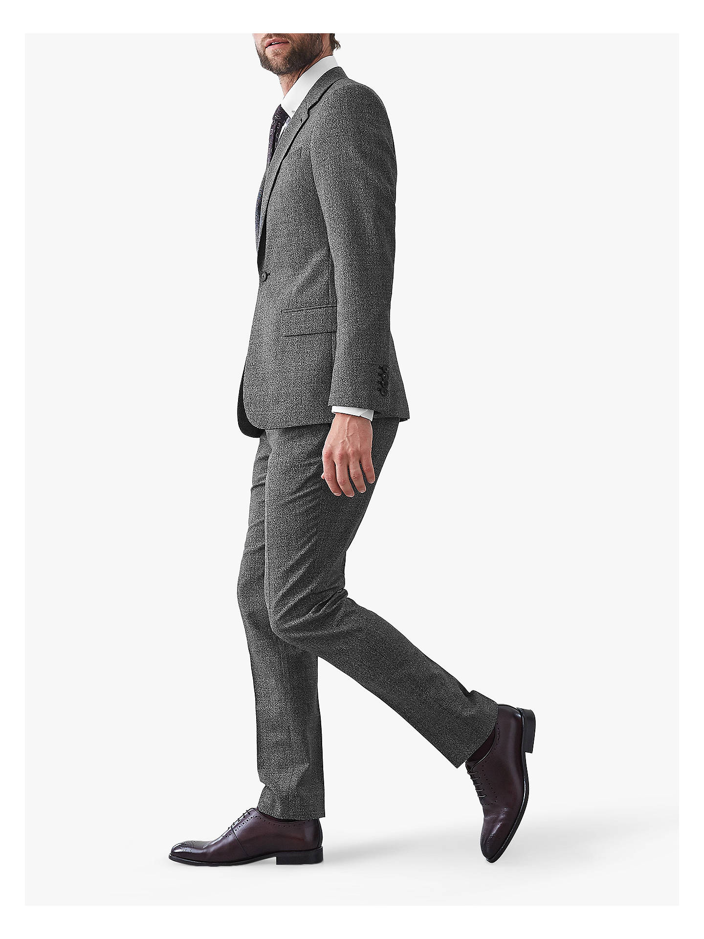 Buy Reiss Gere Slim Fit Jacket, Grey, 44R Online at johnlewis.com