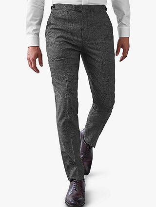 Buy Reiss Gere Textured Wool Slim Fit Suit Trousers, Charcoal, 36R Online at johnlewis.com