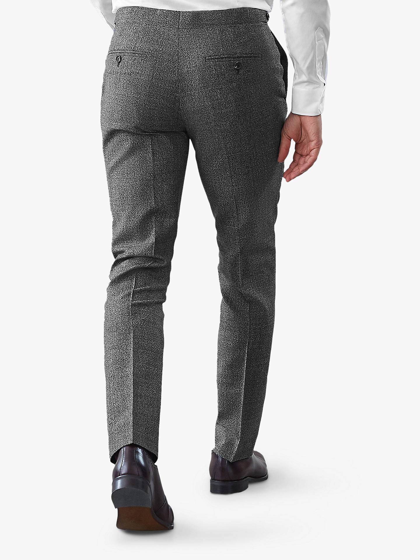 BuyReiss Gere Textured Wool Slim Fit Suit Trousers, Charcoal, 34R Online at johnlewis.com