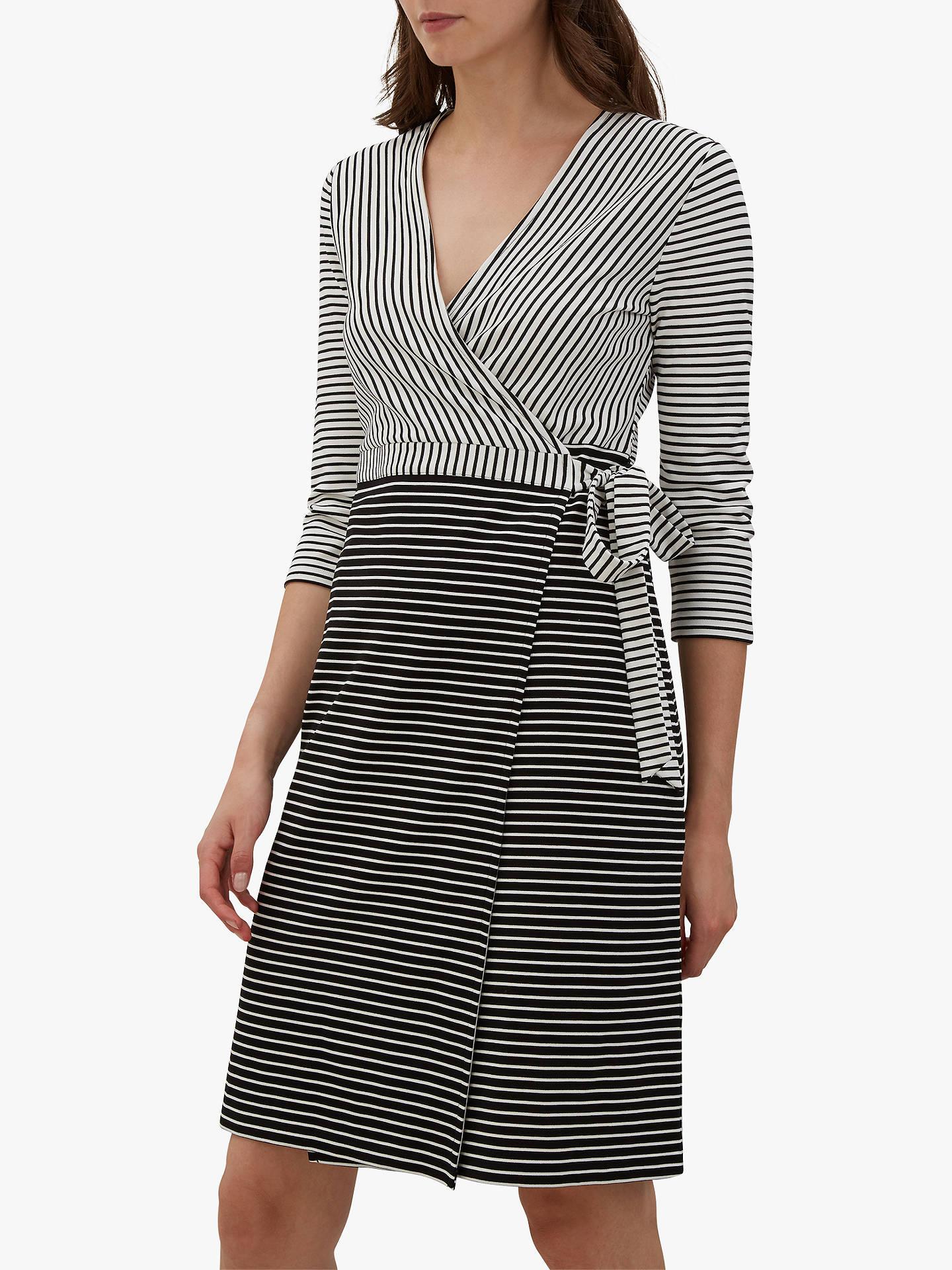 BuyJaeger Contrast Stripe Wrap Dress fd3bcc1f1