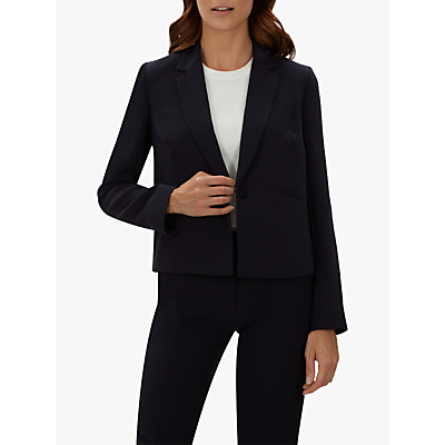 Jaeger Casual Cropped Jacket, Navy