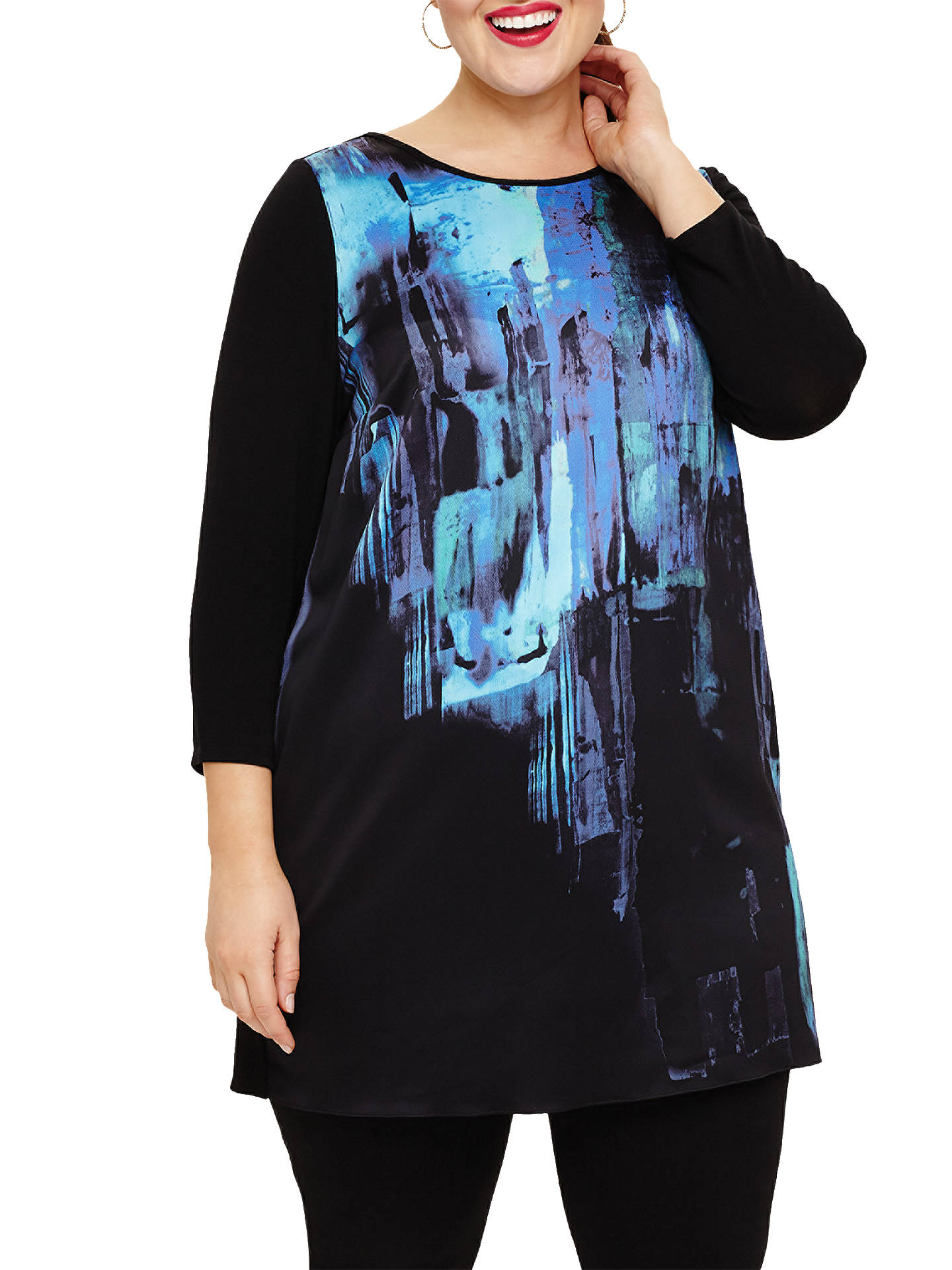 BuyStudio 8 Sofia Printed Tunic, Black, 22 Online at johnlewis.com