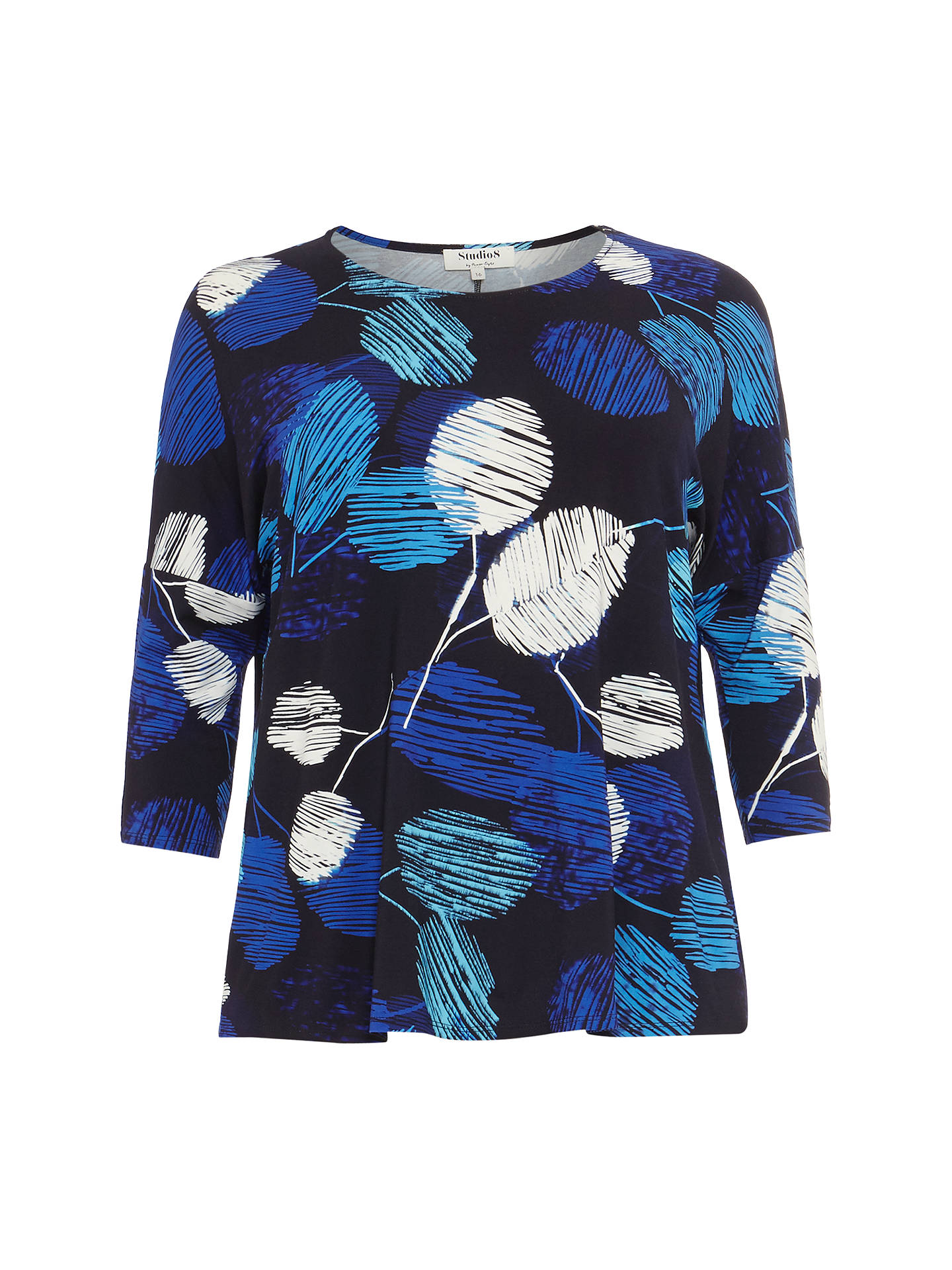 Buy Studio 8 Mara Printed Top, Blue, 14 Online at johnlewis.com