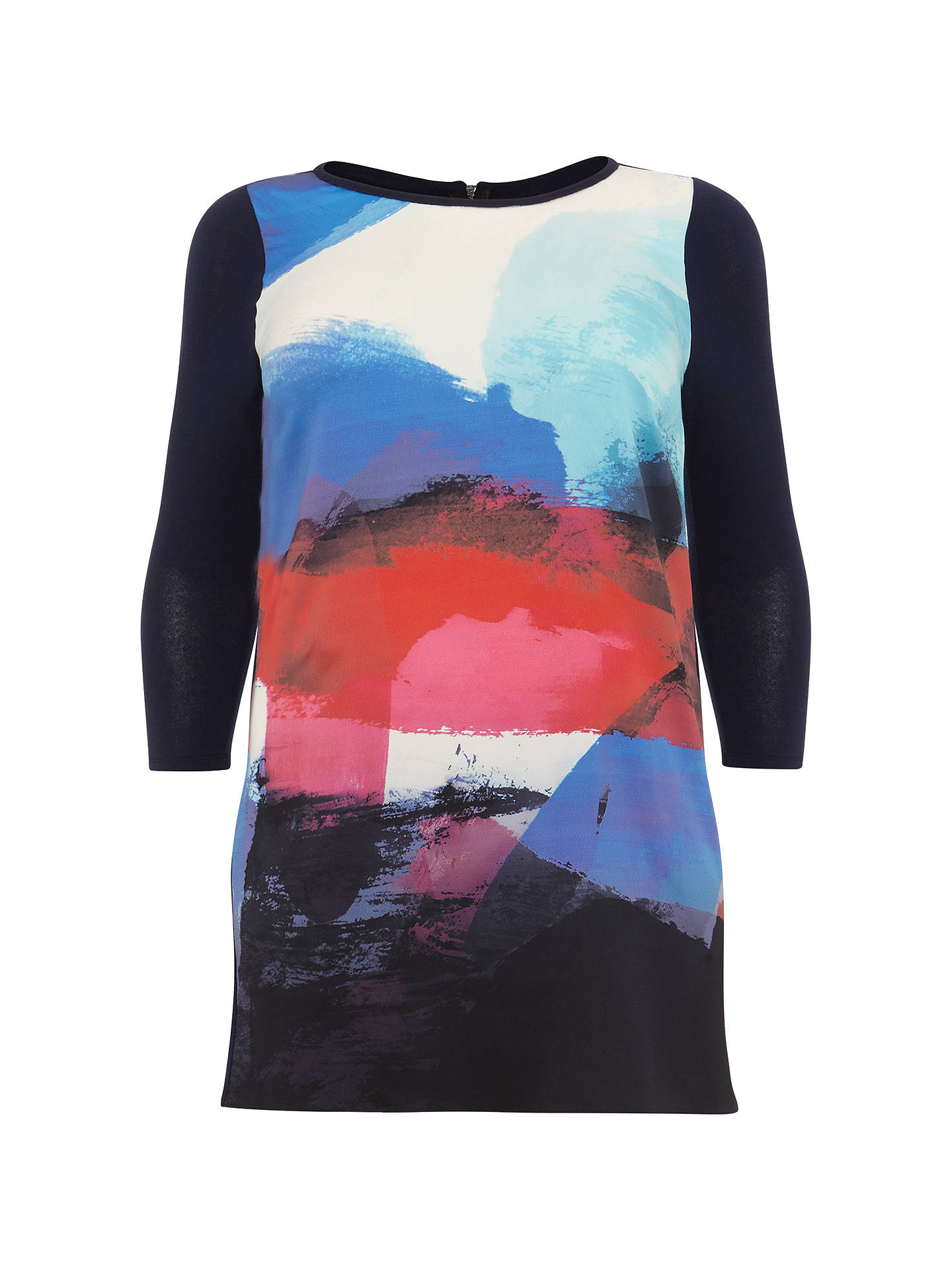 Buy Studio 8 Geometric Print Tunic, Navy Multi, 20 Online at johnlewis.com