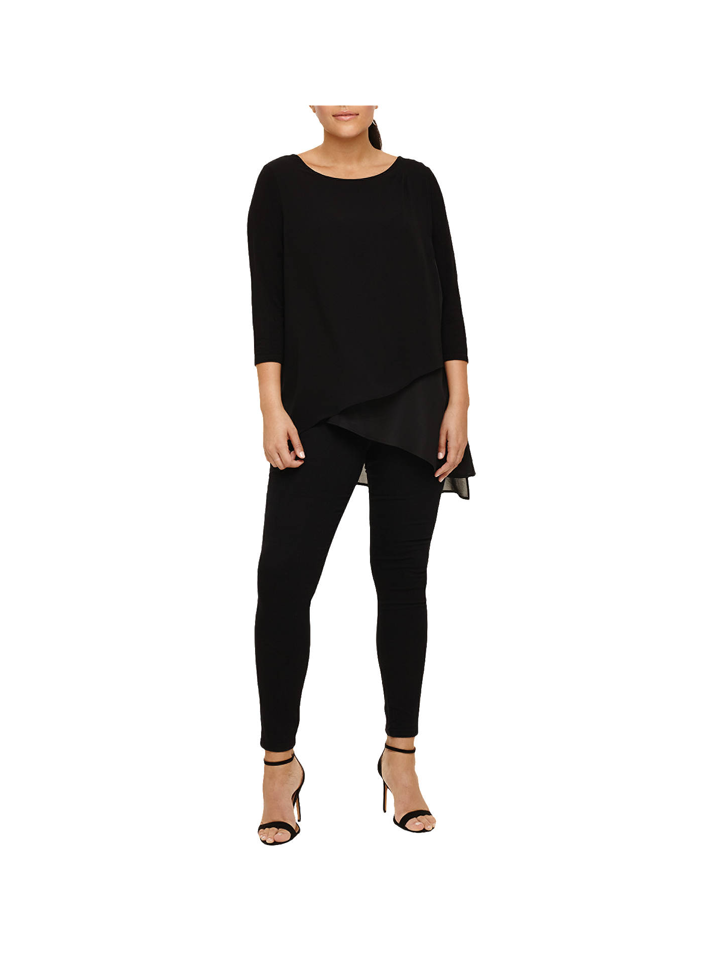 BuyStudio 8 Minka Layered Top, Black, 16 Online at johnlewis.com