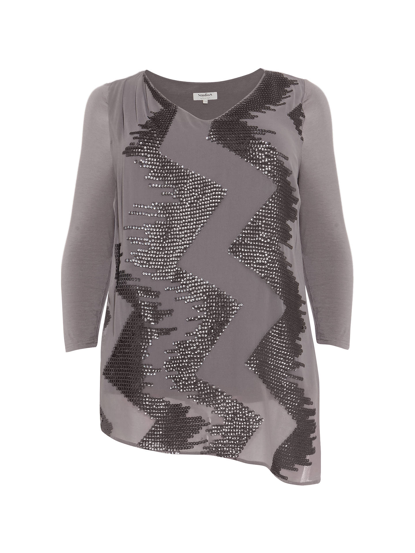 Buy Studio 8 Nikita Sequin Top, Khaki, 24 Online at johnlewis.com