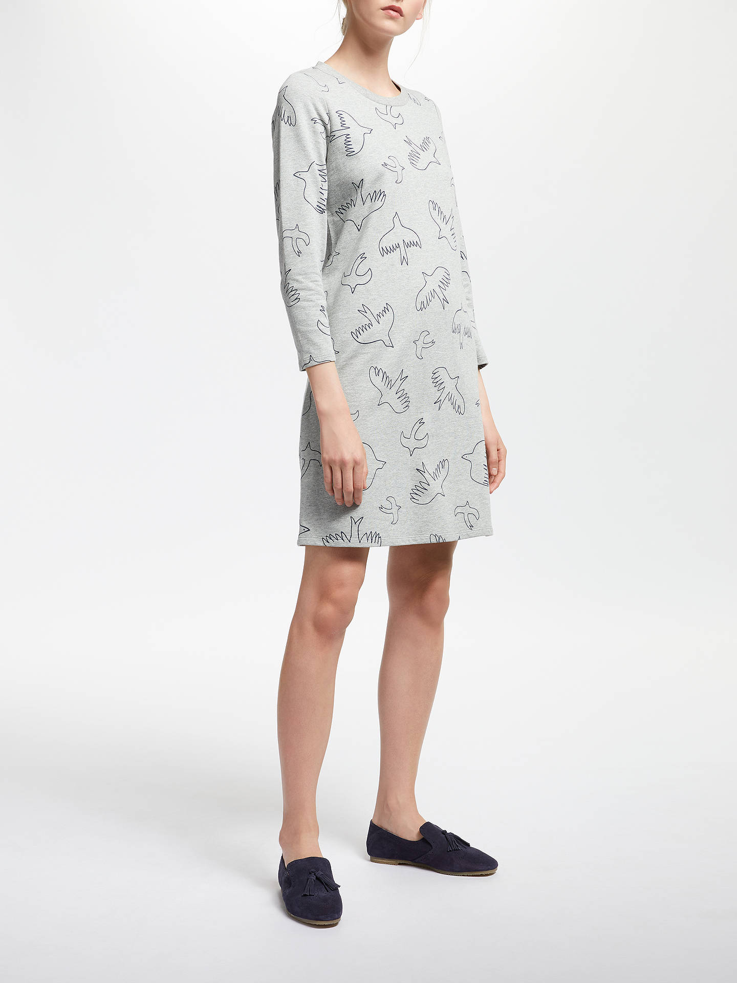 Buy Boden Cotton Sweatshirt Dress, Grey, 10 Online at johnlewis.com