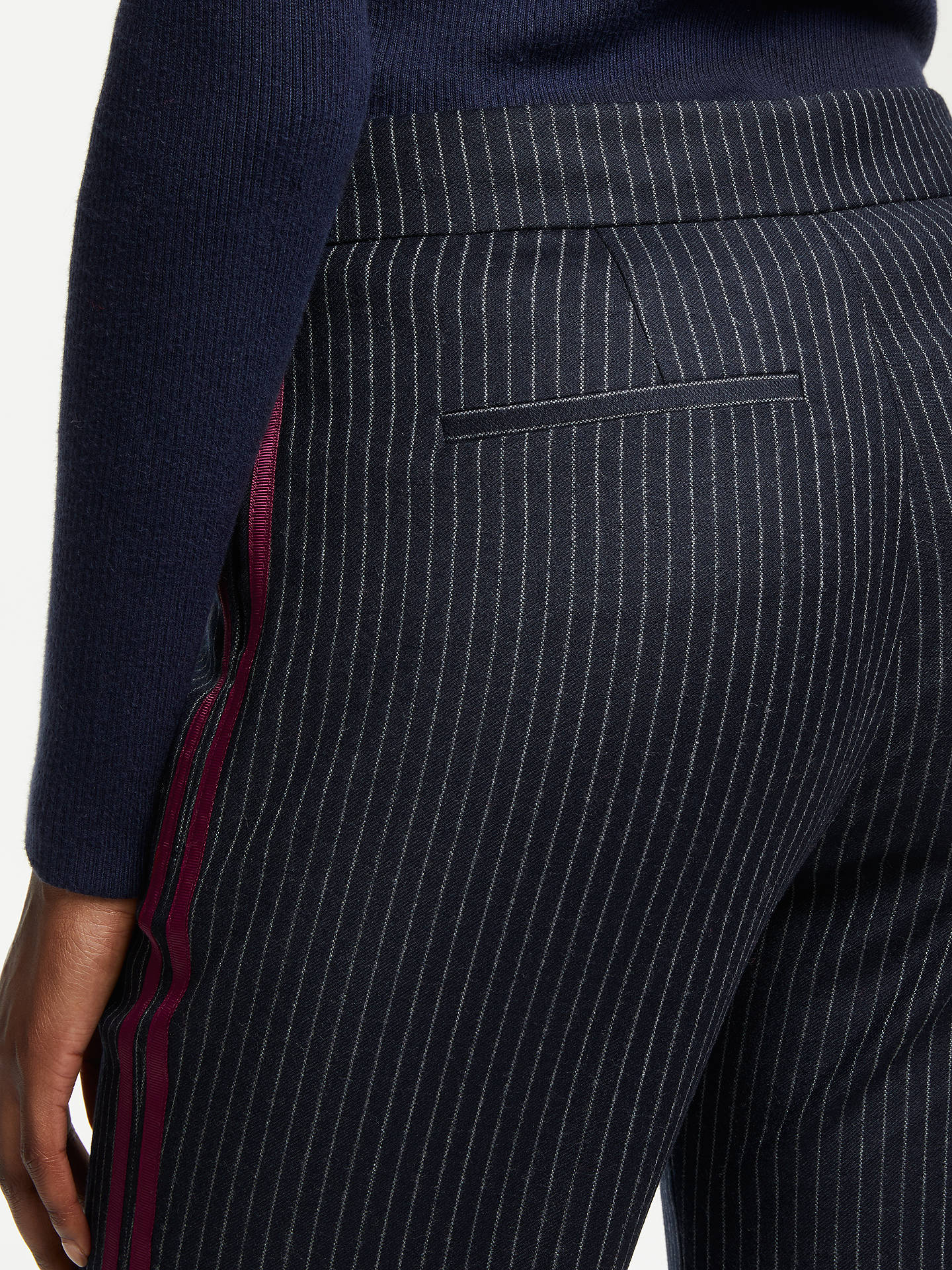 BuyBoden Cresswell Pinstripe Trousers, Blue, 16 Online at johnlewis.com