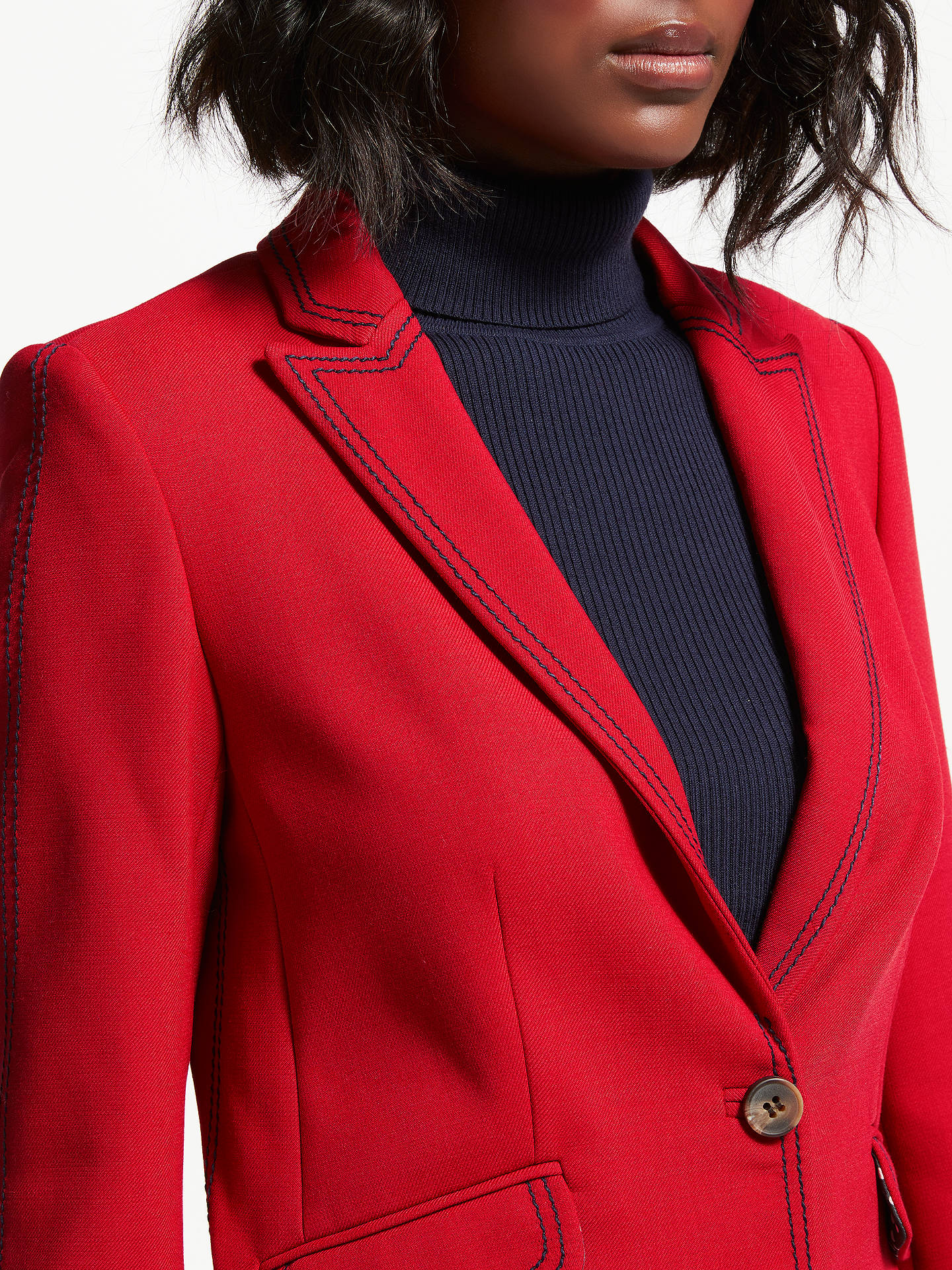 BuyBoden Winsford Blazer, Poinsettia, 8 Online at johnlewis.com