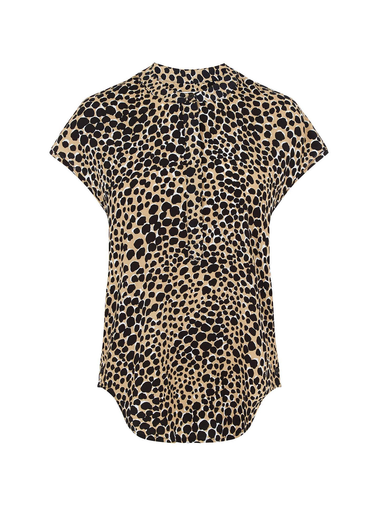 d64f0d8e76f4 ... Buy Warehouse Cheetah Print Blouse, Natural Stone, 6 Online at  johnlewis.com ...