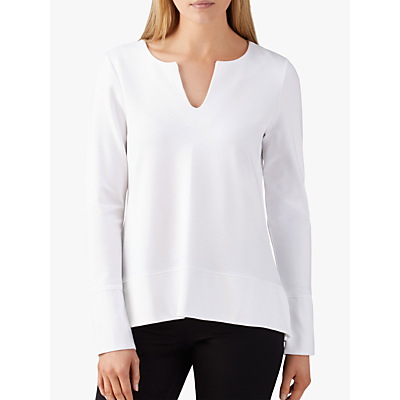 Pure Collection Ponte V-Neck Top