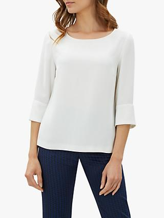 Jaeger Fluted Cuff Crepe Top