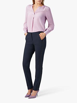 Pure Collection Slim Leg Trousers, Navy