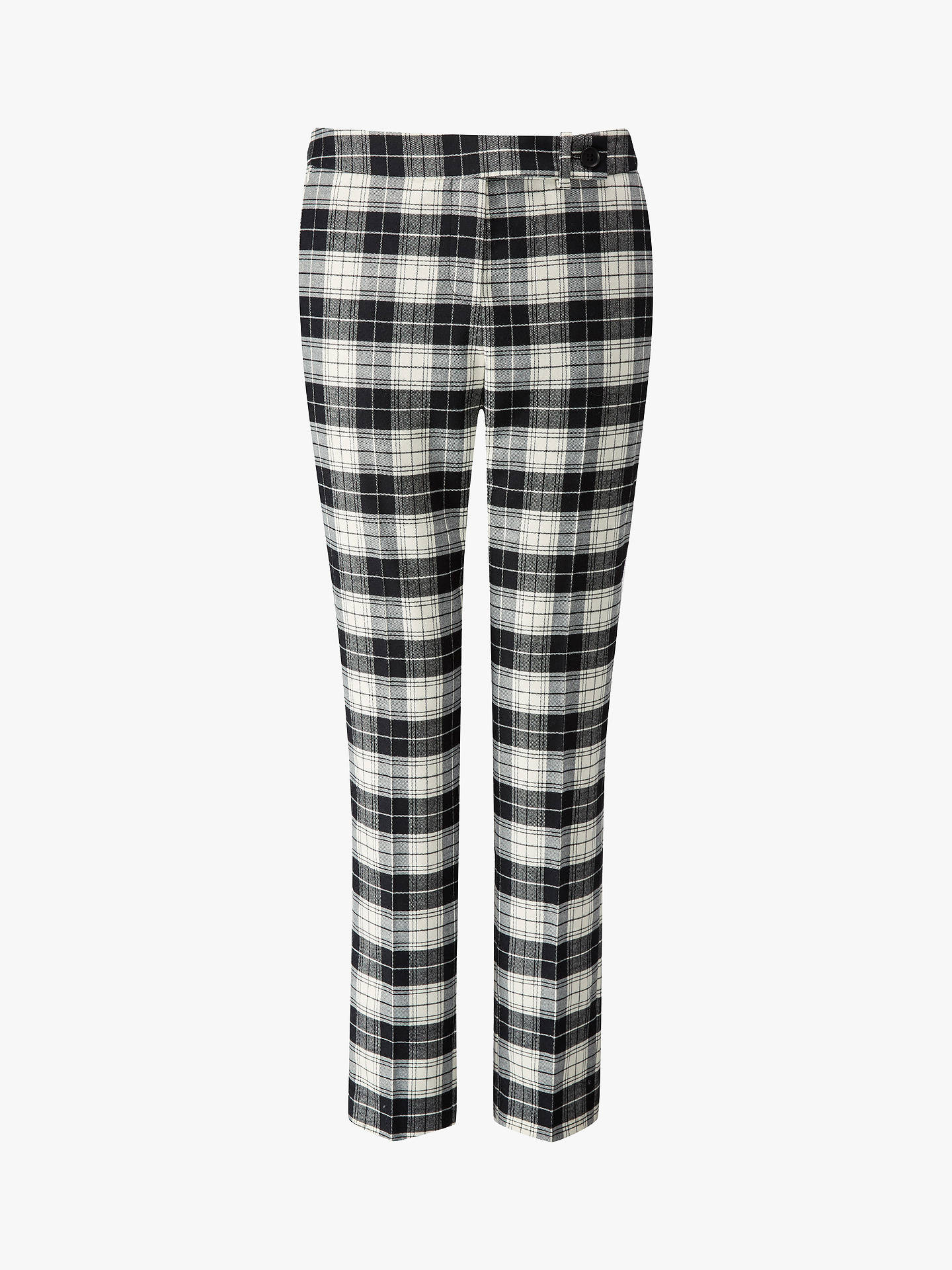 Buy Pure Collection Tailored Ankle Length Trousers, Black/Ivory, 10 Online at johnlewis.com