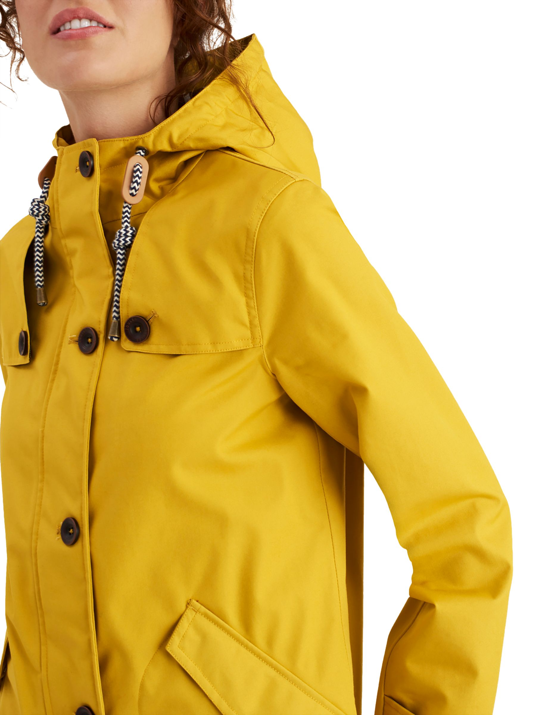 b1723413a03 Joules Coastal Waterproof Hooded Coat, Antique Gold at John Lewis ...