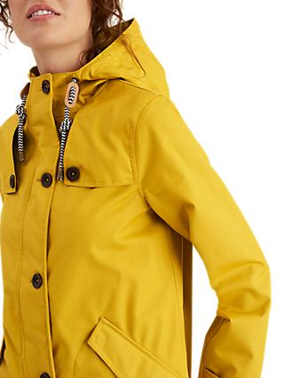 Joules Coastal Waterproof Hooded Coat, Antique Gold