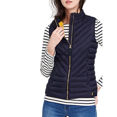 Joules Brindley Chevron Quilted Gilet, Marine Navy