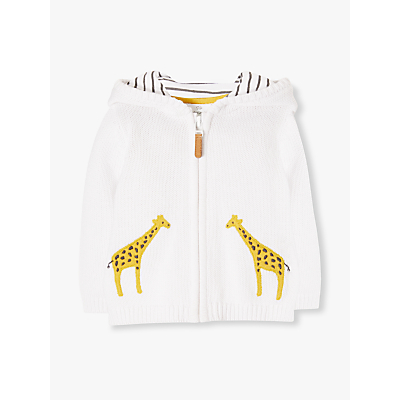 Image of John Lewis & Partners Baby Giraffe Cardigan, Cream