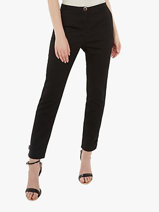 Ted Baker Nadaet Bow Detail Ankle Trousers, Black